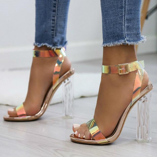 Fashion Women Pumps Celebrity Wearing Simple Style Pvc Clear Transparent Strappy Buckle Sandals High-Women's Pumps-Brand For Your Life-CTMG gold-4-EpicWorldStore.com
