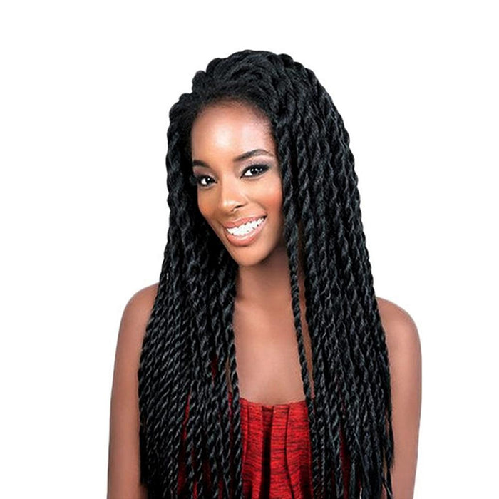 Feibin Synthetic Lace Front Wig Afro 2x Twist Braids Wigs For Black