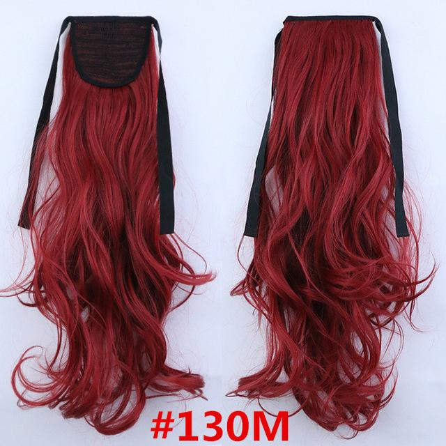 Feibin Synthetic Tie On Ponytail Hair Extension Tail Hairpiece Long