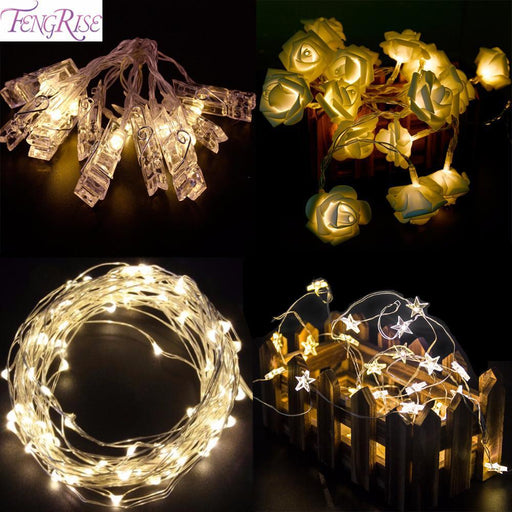Fengris Led Lights Wedding Decoration Light Copper Wire String Fairy Light Birthday Party Decoration-Festive & Party Supplies-FENGRISE Microstar Store-5m White-EpicWorldStore.com