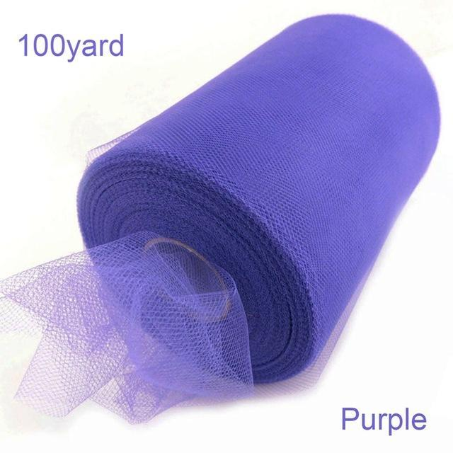 Fengrise Tulle Roll 15Cm 100Yards Roll Fabric Spool Tutu Party Birthday Gift Wrap Wedding Decoration-