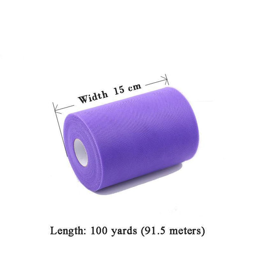 Fengrise Tulle Roll 15Cm 100Yards Roll Fabric Spool Tutu Party Birthday Gift Wrap Wedding Decoration-Festive & Party Supplies-FENGRISE Memcozy Store-25yard White-EpicWorldStore.com