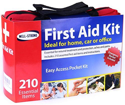 First Aid Kit 210 Pieces With Durable And Compact Canvas Bag-Home Essentials-Amazon-EpicWorldStore.com