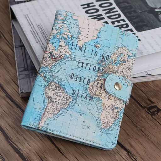 Flamingo Map Passport Covers Travel Accessories Creative Pu Leather Id Bank Card Bag Men Women-Luggage & Travel Bags-XIEEEPO Store-1-EpicWorldStore.com