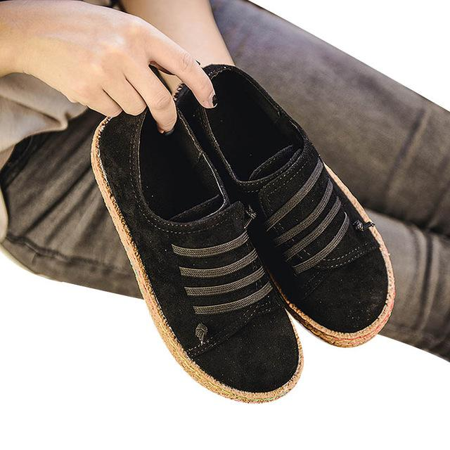 0e95a0767c Flat Shoes Women Autumn Shoes Woman Casual Lace-Up Flats Comfortable Round  Toe Loafers Shoes