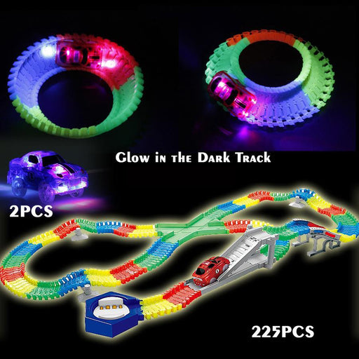 Flexible Glow Race Track Create A Road Diecast With 2Pcs Flashing 5 Led Light Cars Luminous Glow-Diecasts & Toy Vehicles-UTomy Toy Store-EpicWorldStore.com