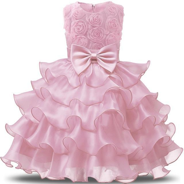 Flower Girl Dress For Wedding Baby Girl 3 8 Years Birthday Outfits Childrens Girls First