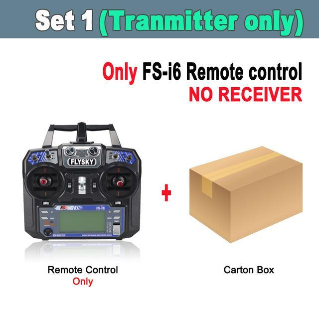 Flysky Fs-I6 Fs I6 2 4G 6Ch Rc Transmitter Controller Fs-Ia6 Or Fs-Ia6B  Receiver For Rc Helicopter