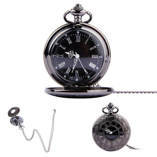 Fob Pocket Watch Vintage Roman Numerals Quartz Watch Clock With Chain Antique Jewelry Pendant-Pocket & Fob Watches-Shop2882035 Store-EpicWorldStore.com