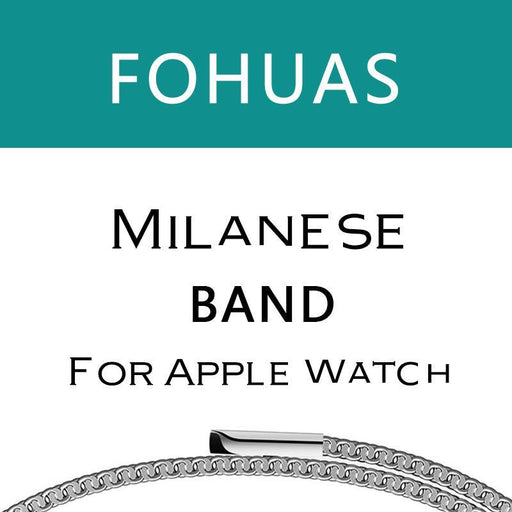Fohuas Milanese Loop For Apple Watch Series 1 2 Band For Iwatch Stainless Steel Strap Magnetic-Watch Accessories-Major Watch and Accessories Manufacturer Store-Black-For 38mm iWatch-EpicWorldStore.com