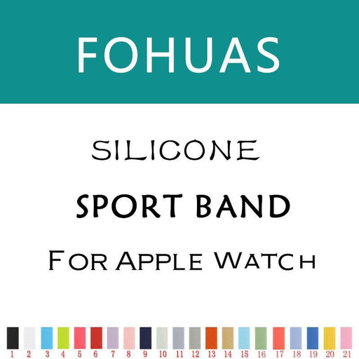 Fohuas New Silicon Sports Band Strap 38Mm For Apple Watch Accessory Wristband Replacement 42Mm-Watch Accessories-Major Watch and Accessories Manufacturer Store-color 1-38mm SM-EpicWorldStore.com