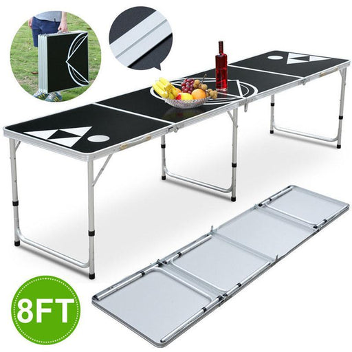 Folding Beer Pong Table Portable Lightweight 8Ft Entertainment Sports Hiking Camping Gambling Tables-Gambling Tables-GoteCool Outdoor Store-EpicWorldStore.com