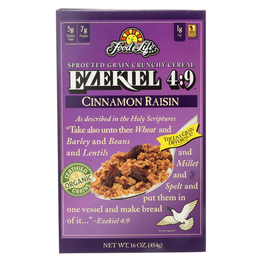 Food For Life Baking Co. Cereal - Organic - Ezekiel 4-9 - Sprouted Whole Grain - Cinnamon Raisin -Eco-Friendly Home & Grocery-Food For Life Baking Co.-EpicWorldStore.com