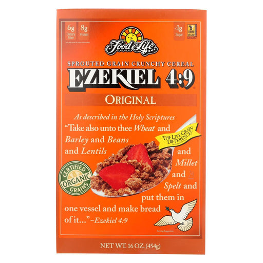 Food For Life Baking Co. Cereal - Organic - Ezekiel 4-9 - Sprouted Whole Grain - Original - 16 Oz-Eco-Friendly Home & Grocery-Food For Life Baking Co.-EpicWorldStore.com