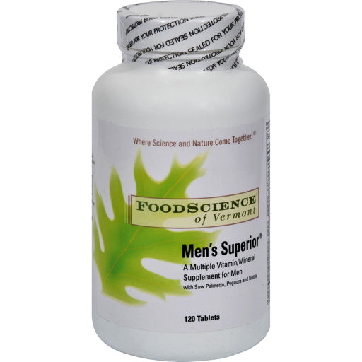 Foodscience Of Vermont Mens Superior - 120 Tablets-Eco-Friendly Home & Grocery-Food Science Of Vermont-EpicWorldStore.com