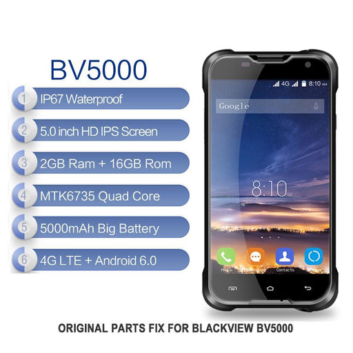 For Original Blackview Bv5000 Lcd Screen Display+Touch Screen Digitizer Sensor Glass Assembly-Mobile Phone Parts-Aparts Store-EpicWorldStore.com