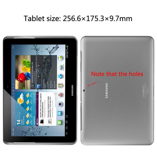 For Samsung Galaxy Tab 2 10.1 Inch Gt-P5100 P5110 P5113 Tablet Case Leather Pu Stand Folio Put-Tablet Accessories-GARUNK Official Flagship Store-black-EpicWorldStore.com