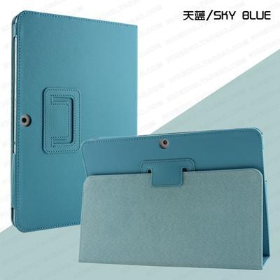 For Samsung Galaxy Tab 2 10.1 Inch Gt-P5100 P5110 P5113 Tablet Case Leather Pu Stand Folio Put-Tablet Accessories-GARUNK Official Flagship Store-sky blue-EpicWorldStore.com