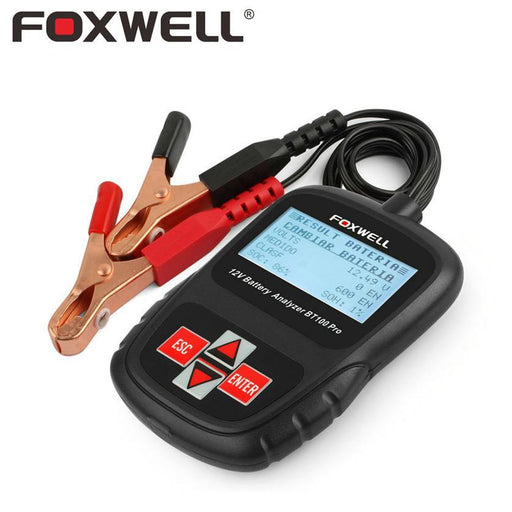 Foxwell Bt100 Pro 6V 12V Car Battery Tester For Flooded Agm Gel 100 To 1100 Cca 200 Ah Test 6 V 12-Car Repair Tools-FOXWELL Official Store-English-EpicWorldStore.com