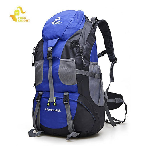 Free Knight 50L / 60L Outdoor Backpack Climbing Camping Bag Waterproof Hiking Backpacks Molle-Sport Bags-WinmaxSportsBag Store-50L Black-EpicWorldStore.com