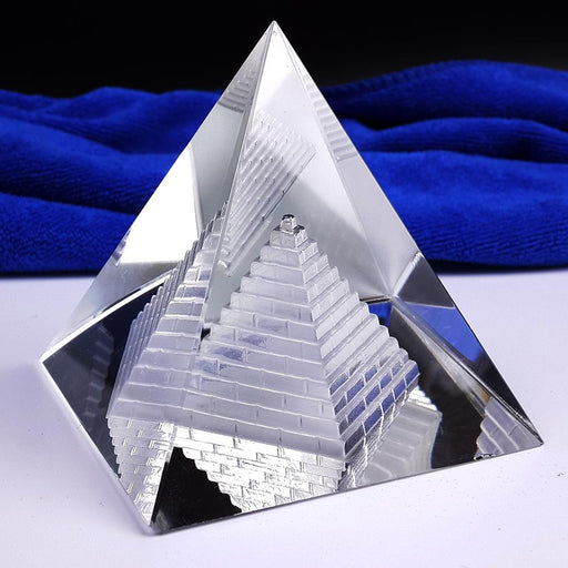 Free Shipping Fengshui Hollow Pyramid Healing Crystal Wicca Crafts Desk Paperweight-Figurines & Miniatures-Will&Ann Crystal Craft-EpicWorldStore.com