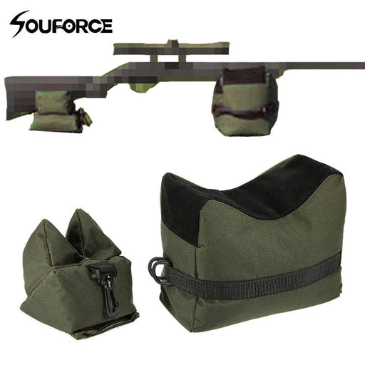 Front&Rear Bag Support Rifle Sandbag Without Sand Sniper Hunting Target Stand Hunting Gun-Hunting-Huntress Store-Green-EpicWorldStore.com