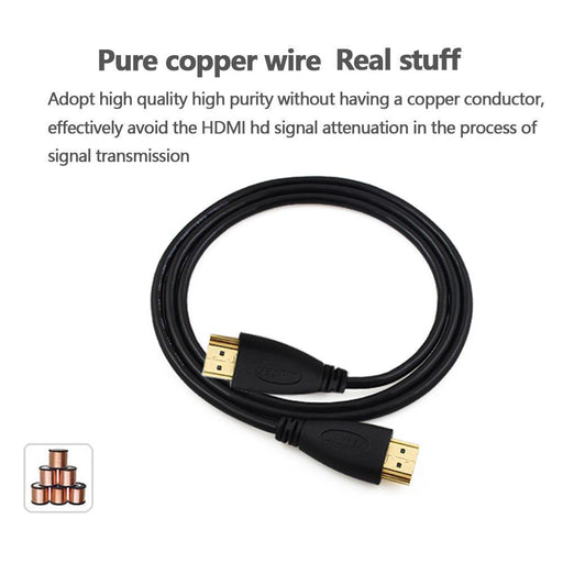 Fsu Hdmi Cable Video Cables Gold Plated 1.4 1080P 3D Cable For Hdtv Splitter Switcher 0.5M 1M 1.5M-Cables & Connectors-FSU Official Store-50CM-EpicWorldStore.com