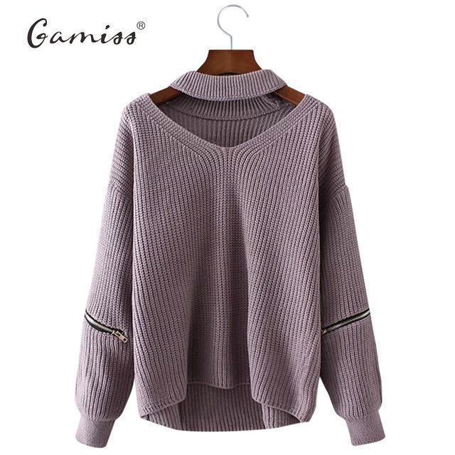 Gamiss Winter Spring Women Sweaters Pullovers Casual Loose Knitted Sweater Women Tricot Pullover