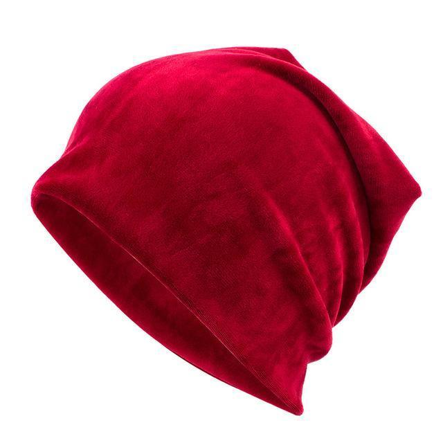 Geebro Brand Womens Hat Skullies Beanies Polyester Knitted Hats Beanie Hat Spring Casual-Accessories-Geebro Official Store-Dark Red-EpicWorldStore.com