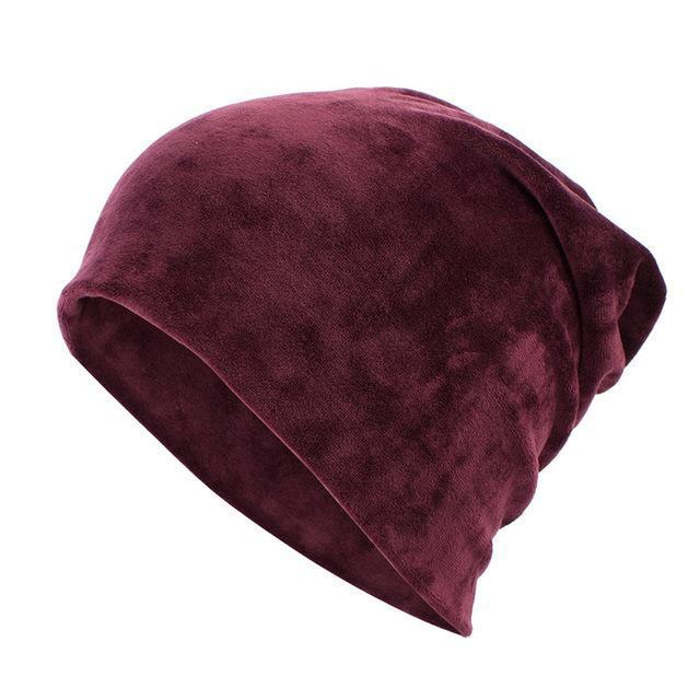 Geebro Brand Womens Hat Skullies Beanies Polyester Knitted Hats Beanie Hat Spring Casual-Accessories-Geebro Official Store-Wine Red-EpicWorldStore.com