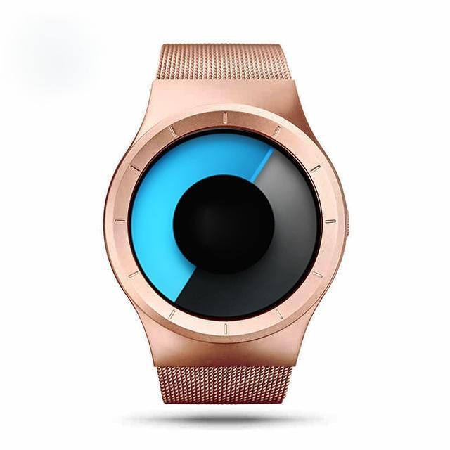 Geekthink Quartz Watches Men Top Luxury Brand Casual Stainless Steel Mesh Band Unisex Watch Clock-Men's Watches-Geekthink Official Store-Rose Gold with Box-EpicWorldStore.com