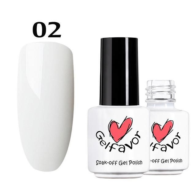 Gelfavor 01-58 Pure Colours Gel Nail Polish Soak-Off Uv Led Long-Lasting Nail Lacquer Semi Primer-Nails & Tools-Gelfavor Store-02-EpicWorldStore.com