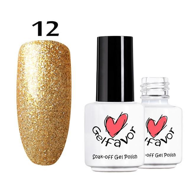 Gelfavor 01-58 Pure Colours Gel Nail Polish Soak-Off Uv Led Long-Lasting Nail Lacquer Semi Primer-Nails & Tools-Gelfavor Store-12-EpicWorldStore.com