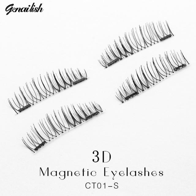 Genailish False Eyelashes 6D Magnetic Lashes Double Magnet Fake Eye Lashes Hand Made Strip Lashes-Makeup-Sexy Eyes Store-CT01-S-EpicWorldStore.com