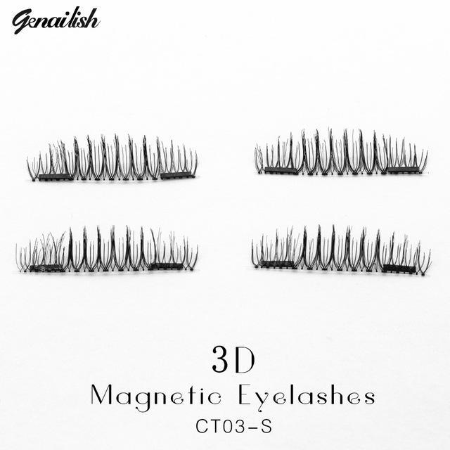 Genailish False Eyelashes 6D Magnetic Lashes Double Magnet Fake Eye Lashes Hand Made Strip Lashes-Makeup-Sexy Eyes Store-CT03-S-EpicWorldStore.com