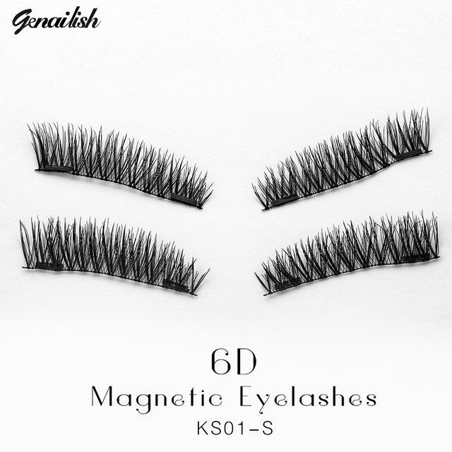 Genailish False Eyelashes 6D Magnetic Lashes Double Magnet Fake Eye Lashes Hand Made Strip Lashes-Makeup-Sexy Eyes Store-KS01-S-EpicWorldStore.com