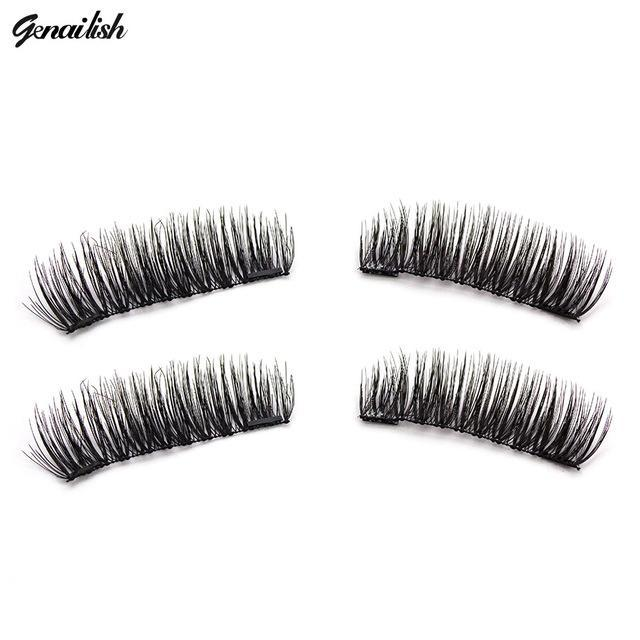Genailish False Eyelashes 6D Magnetic Lashes Double Magnet Fake Eye Lashes Hand Made Strip Lashes-Makeup-Sexy Eyes Store-KS04-S-EpicWorldStore.com