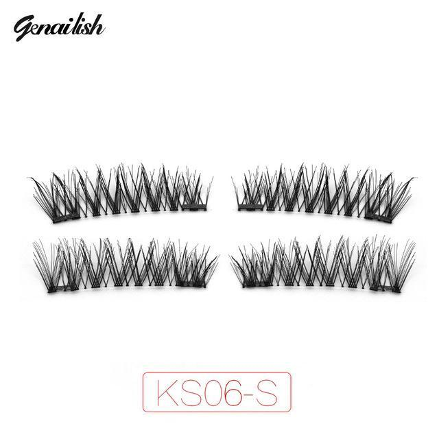Genailish False Eyelashes 6D Magnetic Lashes Double Magnet Fake Eye Lashes Hand Made Strip Lashes-Makeup-Sexy Eyes Store-KS06-SY-EpicWorldStore.com