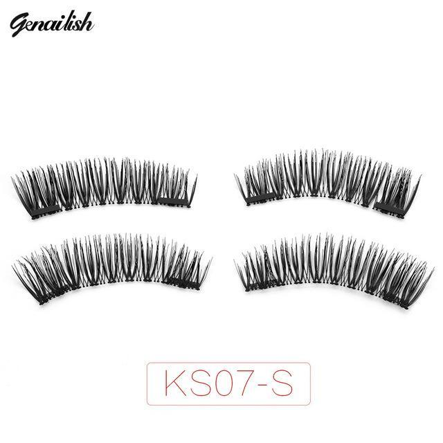 Genailish False Eyelashes 6D Magnetic Lashes Double Magnet Fake Eye Lashes Hand Made Strip Lashes-Makeup-Sexy Eyes Store-KS07-SY-EpicWorldStore.com