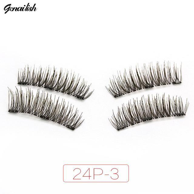 Genailish Magnetic Eyelashes With 3 Magnets Handmade 3D/6D Magnet Lashes Natural False Eyelashes-Makeup-Beautiful Eyelashes Store-24P-3-EpicWorldStore.com