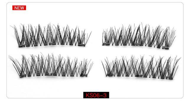 Genailish Magnetic Eyelashes With 3 Magnets Handmade 3D/6D Magnet Lashes Natural False Eyelashes-Makeup-Beautiful Eyelashes Store-KS06-3-EpicWorldStore.com