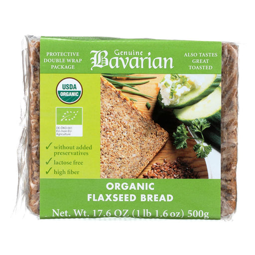 Genuine Bavarian Organic Bread - Flaxseed - Case Of 6 - 17.6 Oz.-Eco-Friendly Home & Grocery-Genuine Bavarian-EpicWorldStore.com