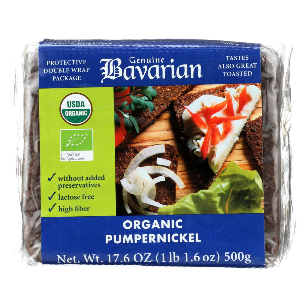 Genuine Bavarian Organic Bread - Pumpernickel - Case Of 6 - 17.6 Oz.-Eco-Friendly Home & Grocery-Genuine Bavarian-EpicWorldStore.com