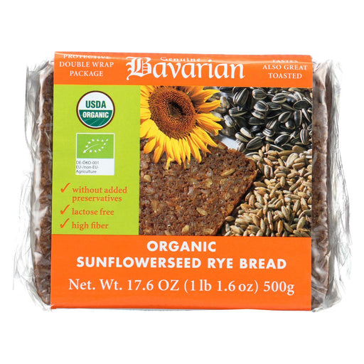 Genuine Bavarian Organic Bread - Sunflower Seed Rey - Case Of 6 - 17.6 Oz.-Eco-Friendly Home & Grocery-Genuine Bavarian-EpicWorldStore.com