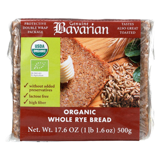 Genuine Bavarian Organic Bread - Whole Rye - Case Of 6 - 17.6 Oz.-Eco-Friendly Home & Grocery-Genuine Bavarian-EpicWorldStore.com