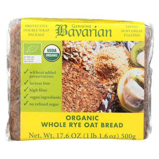 Genuine Bavarian Organic Bread - Whole Rye Oat - Case Of 6 - 17.6 Oz-Eco-Friendly Home & Grocery-Genuine Bavarian-EpicWorldStore.com