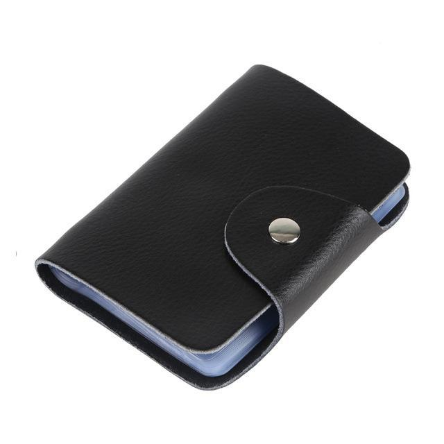 Genuine cow leather business card holder bank credit card id holder genuine cow leather business card holder bank credit card id holder men wallet card case protector colourmoves