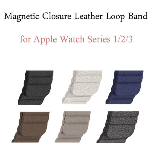 Genuine Leather Loop Band For Apple Watch Band 42Mm 38Mm Strap Bracelet For Iwatch Series 1/2/3-Watch Accessories-CooBand Store-Beige-38mm-EpicWorldStore.com