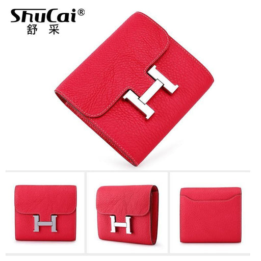 Genuine Leather Women Wallet Short Coin Purse Fashion Wallets For Woman Card Holder Small Ladies-Home-shucai Official Store-BLACK-EpicWorldStore.com