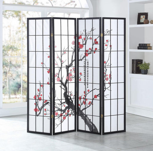 Giantex 4 Panel Plum Blossom Room Divider Folding Privacy Divider Shoji Screen Home Furniture-Goplus-EpicWorldStore.com